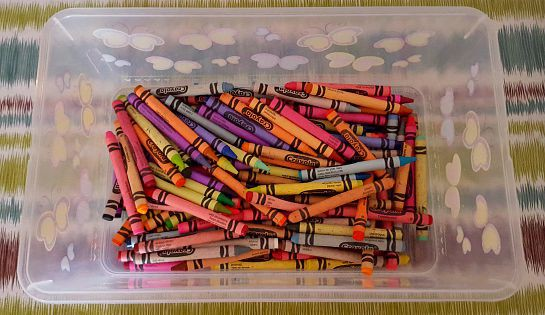 September is a great time to stock up on crayons, you can never have enough!