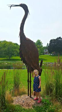 Kai with bird