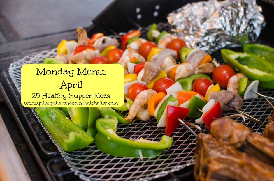Monday Menu April from Pitter Patter and Constant Chatter