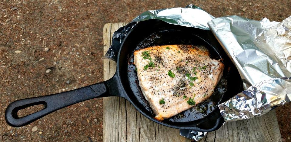 Delicious Campfire Salmon