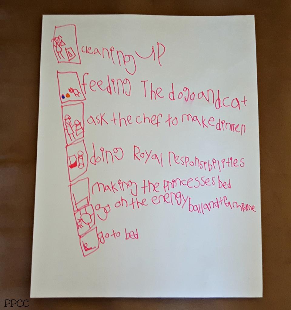 Day 3: Princess Chores, Calendars and Fall Walks